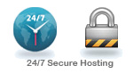 24/7 Secure Hosting account plans with unlimited subdomains.